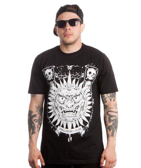 WSRH-Słońce Aztec T-Shirt Czarny