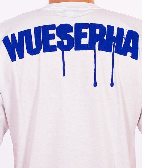 WSRH-Spray T-Shirt Biały/Niebieski