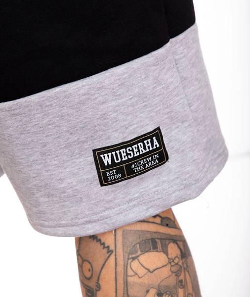 WSRH WSRH08 Krótkie Spodnie Dresowe Czarny/Szary