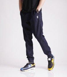 Biuro Ochrony Rapu Jogger Fit Guma Strecz Spodnie Jeans Dark