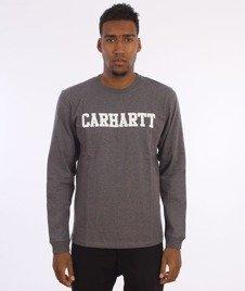 Carhartt-College Longsleeve  Dark Grey Heather/White