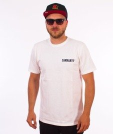 Carhartt WIP-College Script T-Shirt White/Navy