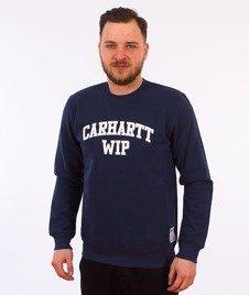 Carhartt WIP-Sporty Sweatshirt Bluza Blue/White