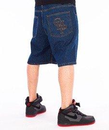 Chada-CHP Spodnie Krótkie Jeans Niebieskie