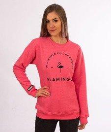 Diamante-Flamingo Crewneck Bluza Damska Różowa