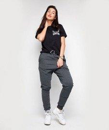 Diamante-Hipster Spodnie Dresowe Damskie Grafitowe