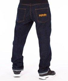 El Polako-Classic Slim Jeans Spodnie Dark Blue