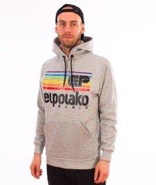 El Polako-Kangurka Rainbow Bluza Kaptur Szara