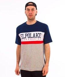El Polako-School T-Shirt Granat