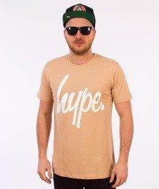 Hype-Basic Logo T-Shirt Piaskowy