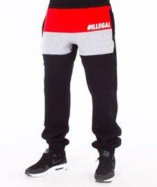 Illegal-Illegal Red Spodnie Dresowe Czarne