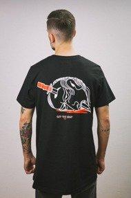 Intruz-Cut T-Shirt Czarny