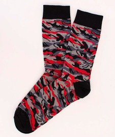 Koka-Naked Socks Camo/Red
