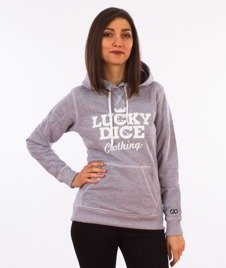 Lucky Dice-Classic Hoodie RND Girl Bluza Kaptur Damska Szara