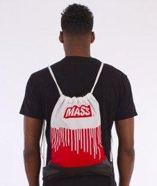 MASS-Cover Gym Bag Worek Czerwony/Biały