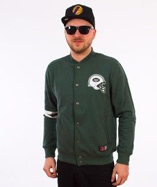 Majestic-New York Jets Emodin Fleece Letterman Bluza Zielona