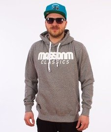 Mass-Classics Bluza Z Kapturem Dark Heather Grey