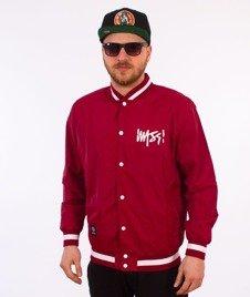 Mass-Signature Handmade Jacket Kurtka Bordowa
