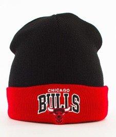 Mitchell & Ness-Chicago Bulls Arched Cuff Knit Czapka Zimowa Czarna