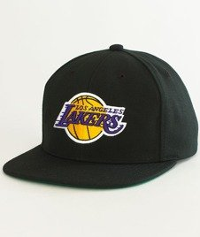 Mitchell & Ness-LA Lakers Wool Solid Snapback NL15Z