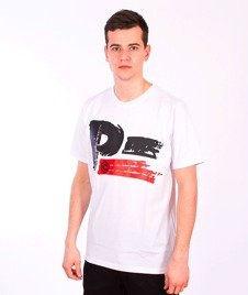 Patriotic-Brush T-shirt Biały