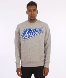 Pit Bull West Coast-Blue Brand Sweatshirt Crewneck Grey Melange