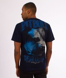 Pit Bull West Coast-Go Hard T-Shirt Granatowy