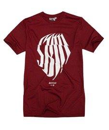 SB Maffija-SBM Glitcher T-Shirt Bordowy
