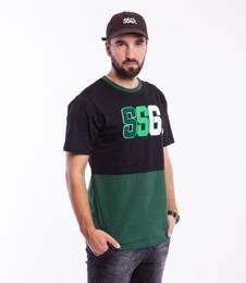 Smoke Story CHENIL LOGO T-Shirt Zielony/Czarny