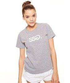 SmokeStory-Classic T-shirt Damski Szary