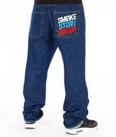 SmokeStory-Colors Regular Jeans Spodnie Medium Blue