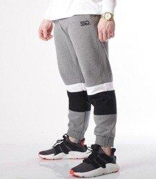 SmokeStory-Cut White Belt Spodnie Jogger Ciemny Szary
