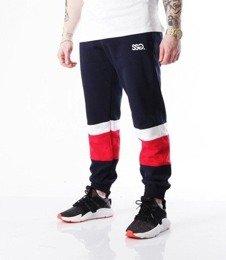 SmokeStory-Cut White Belt Spodnie Jogger Granatowy