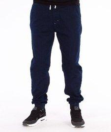 SmokeStory-Jogger Slim Jeans Spodnie Medium Blue