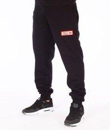 SmokeStory-Logo Slim Spodnie Dresowe Czarne