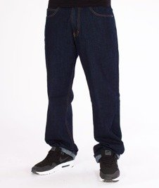 SmokeStory- SSG Classic Regular Jeans Spodnie Dark Blue