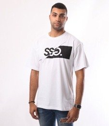 SmokeStory-SSG New Cut Logo T-Shirt Biały
