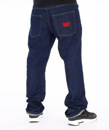SmokeStory-Smoke Tag Slim Jeans Dark Blue