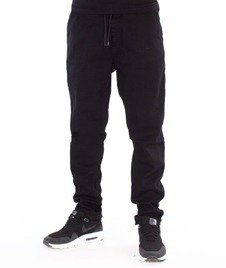 SmokeStory-Stretch Straight Fit Jeans Guma Spodnie Czarny Jeans