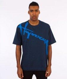 Stoprocent-Downhill 17 T-Shirt Granatowy