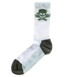 Stoprocent-Skull16 Skarpety Długie Białe/Khaki