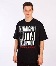Stoprocent-Straight2 T-Shirt Czarny