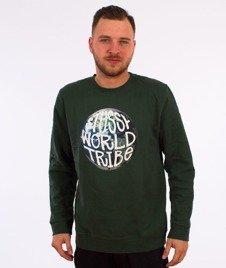 Stussy-Swt Globe Crewneck Zielony