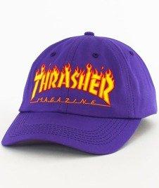 Thrasher-Flame Old Timer Snapback Purple