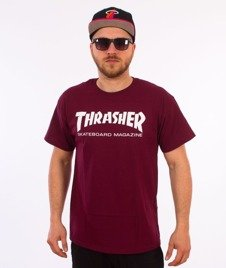 Thrasher-Skate Mag T-Shirt Bordowy