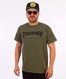 Thrasher-Skate Mag T-Shirt Khaki